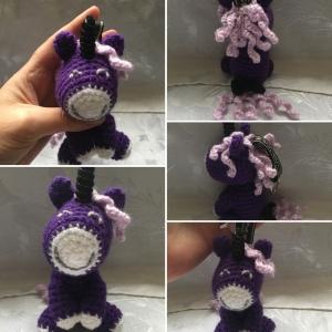 Purple & Lilac Unicorn Keyring