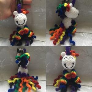 Rainbow Unicorn Keyring