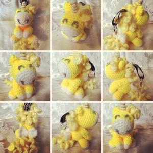 Yellow Unicorn Keyring