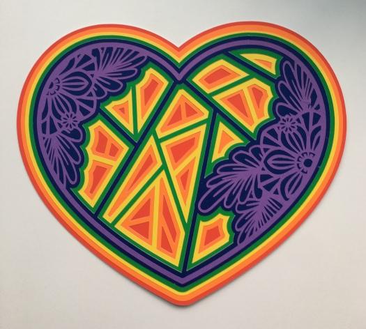 rainbow mandala heart